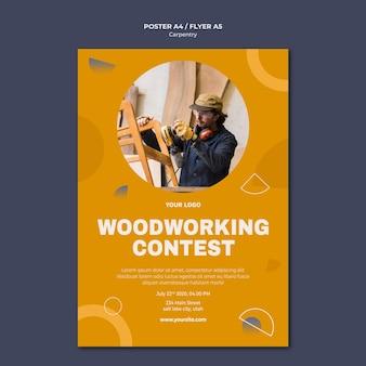 Plantilla de póster publicitario de carpintero