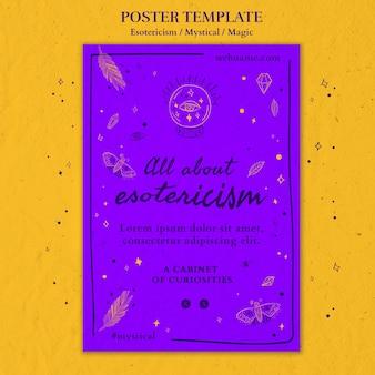 Plantilla de póster publicitario de esoterismo