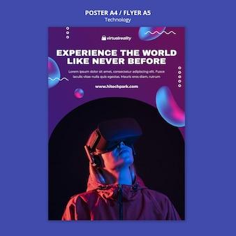 Plantilla de póster de realidad virtual