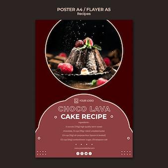 Plantilla de póster de recetas de postres