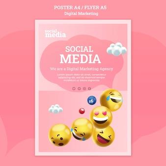 Plantilla de póster de redes sociales