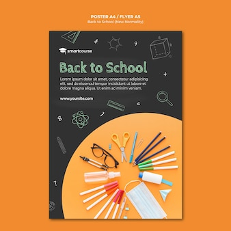 Plantilla de póster de regreso a la escuela