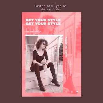 Plantilla de póster para revista de estilo electrónico.