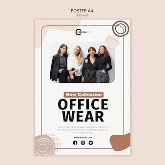 Plantilla de póster de ropa de oficina
