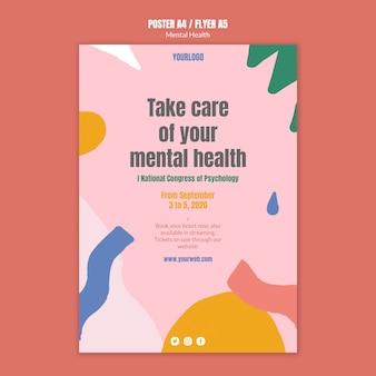 Plantilla de póster de salud mental