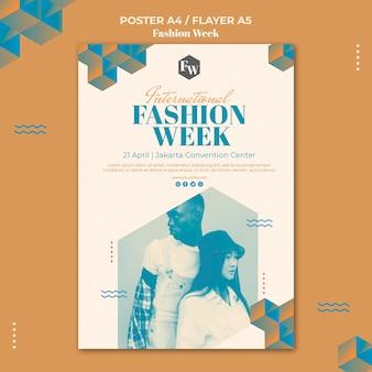 Plantilla de póster de la semana de la moda