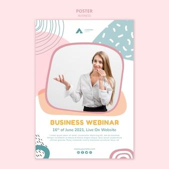 Plantilla de póster de seminario web empresarial