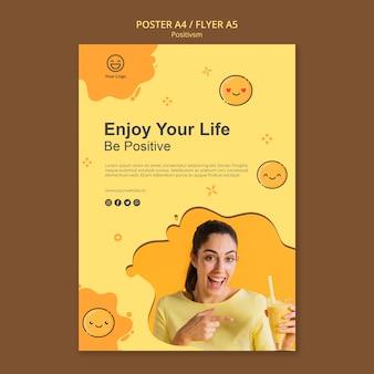 Plantilla de póster con ser positivo