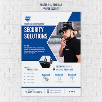 Plantilla de póster de servicios de seguridad