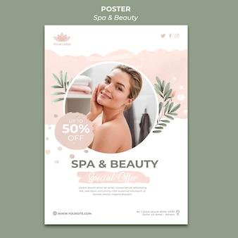 Plantilla de póster para spa y terapia.