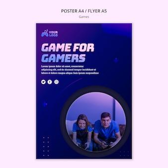 Plantilla de póster de spot de juego