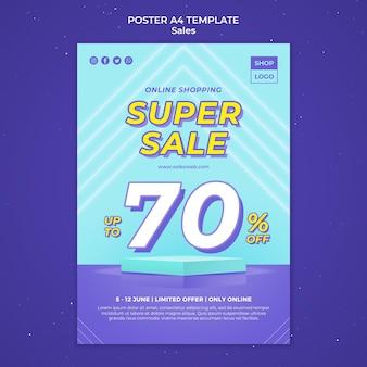 Plantilla de póster para super venta