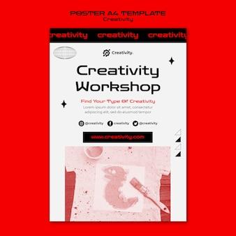 Plantilla de póster de taller de creatividad