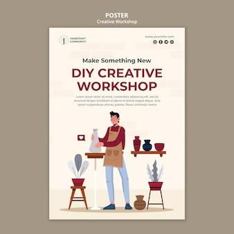 Plantilla de póster de taller creativo