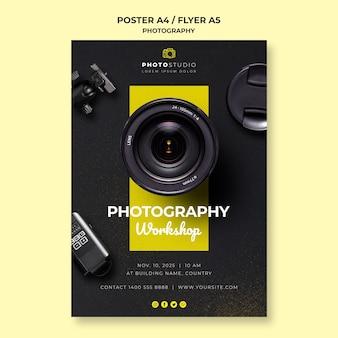 Plantilla de póster de taller de fotografía