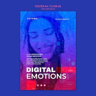 Plantilla de póster de tecnología y concepto futuro