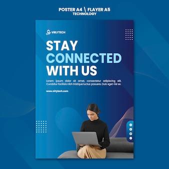 Plantilla de póster de tecnología