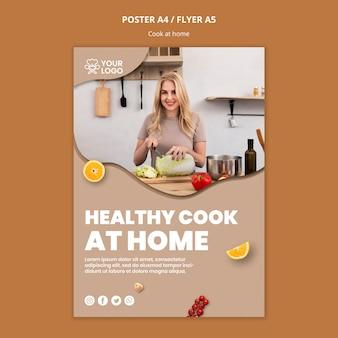 Plantilla de póster con tema de cocina