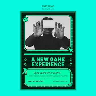 Plantilla de póster de tema de juegos