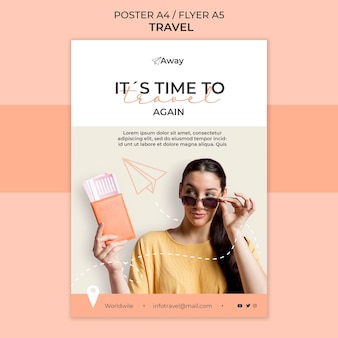 Plantilla de póster de tiempo de viaje
