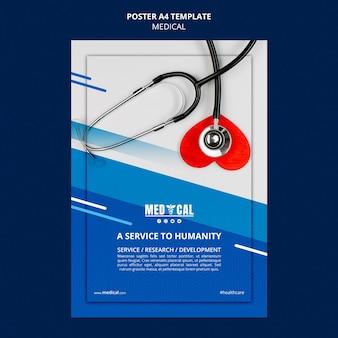 Plantilla de póster para la vacunación contra el coronavirus.