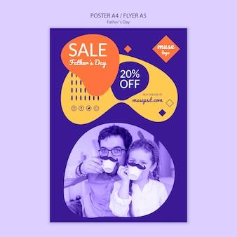 Plantilla de póster de venta del día del padre