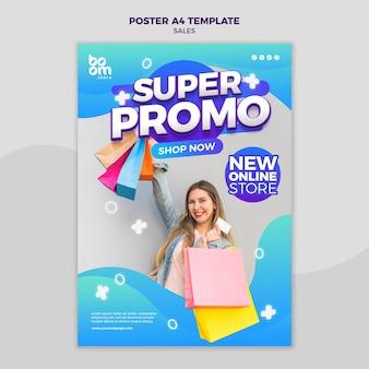 Plantilla de póster de ventas moderno