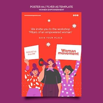 Plantilla de póster vertical para el empoderamiento de las mujeres