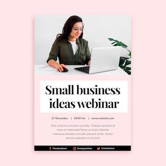 Plantilla de póster vertical para trabajo empresarial independiente