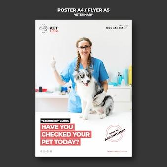 Plantilla de póster veterinario