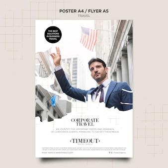 Plantilla de póster de viajes corporativos