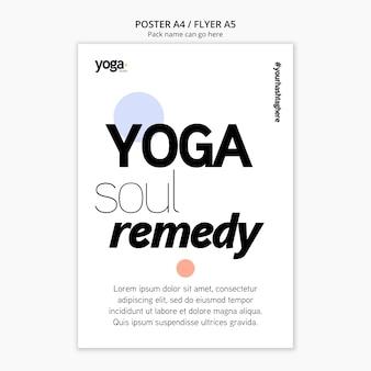 Plantilla de póster de yoga soul remedy