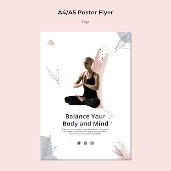 Plantilla de póster de yoga