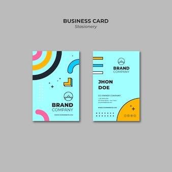 Plantilla de presentación azul de tarjeta de visita