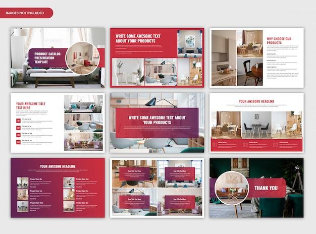 Plantilla de presentación del catálogo de productos