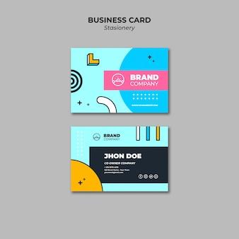 Plantilla de presentación colorida tarjeta de visita