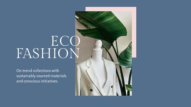 Plantilla de presentación de moda ecológica psd