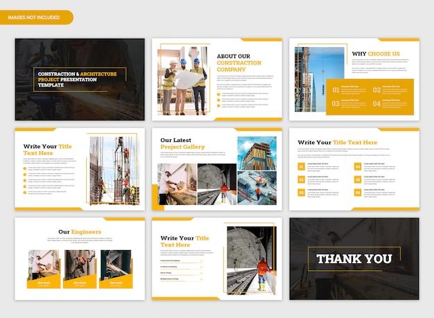 Plantilla de presentación de resumen de proyecto de arquitectura y construcción