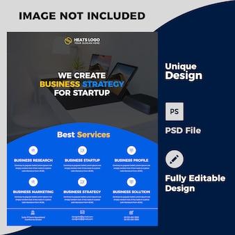 Plantilla psd de diseño creativo de flyer de empresa