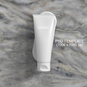 Plantilla psd de maqueta de crema de embalaje de cosméticos