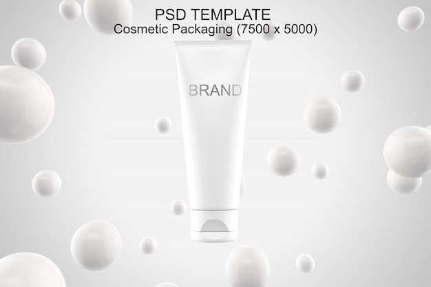 Plantilla psd de maqueta de embalaje de cosméticos
