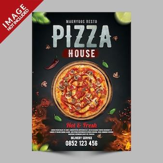 Plantilla psd premium de pizza house