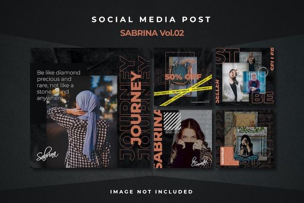 Plantilla de publicación de alimentación de redes sociales de flyer cuadrado