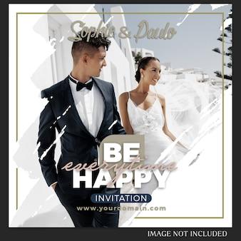 Plantilla de publicación de boda de instagram