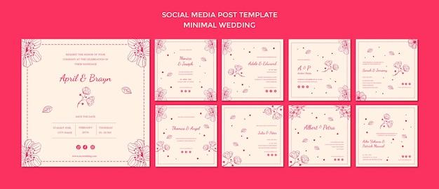 Plantilla de publicación de boda en redes sociales