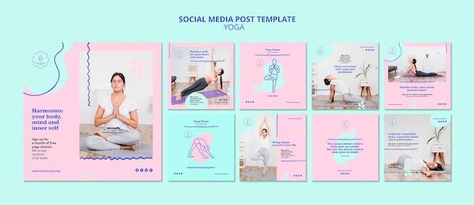 Plantilla de publicación de instagram de anuncio de yoga