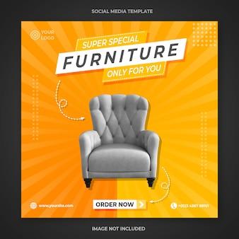 Plantilla de publicación de instagram de muebles