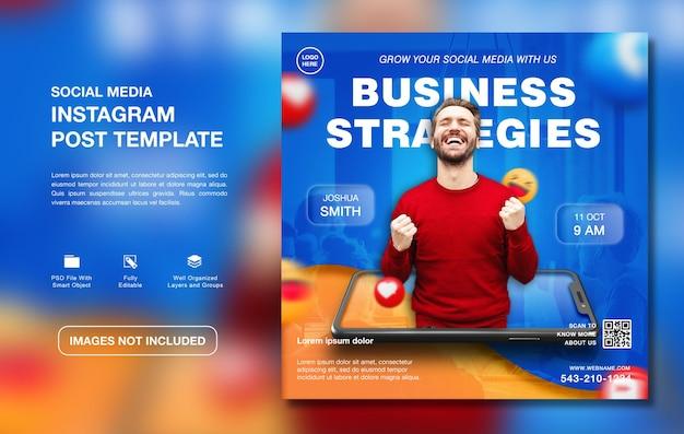 Plantilla de publicación de instagram de promoción de agencia de marketing digital creativo