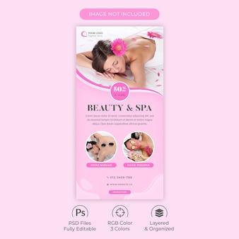 Plantilla de publicación de instagram para salón de belleza y centro de spa