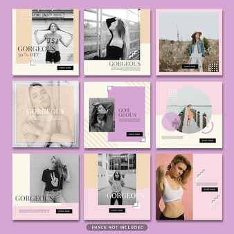 Plantilla de publicación de instagram de venta de moda psd premium